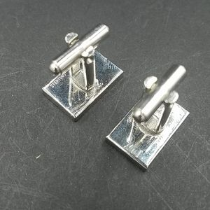 Vintage Accessories - Vintage Sterling Silver Abacus Cuff Links